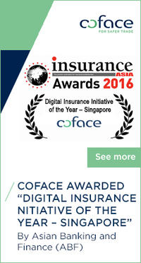 "Coface awarded the Country Award ""Digital Insurance Initiative of the Year – Singapore"""